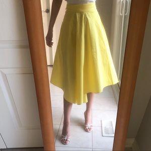Dresses & Skirts - Yellow full circle midi skirt size xs